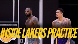 Inside Lakers Practice: LeBron James, Kyle Kuzma, Alex Caruso, Danny Green Prepare To Return