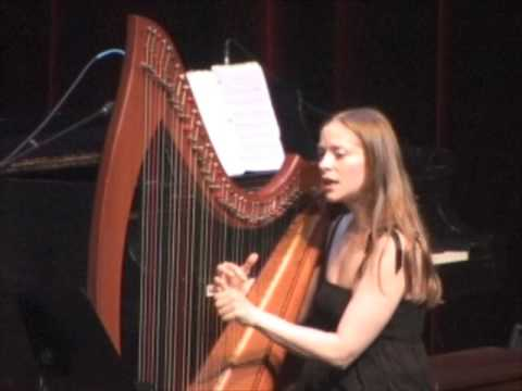 Molly Malone with harpist singer Erin Hill