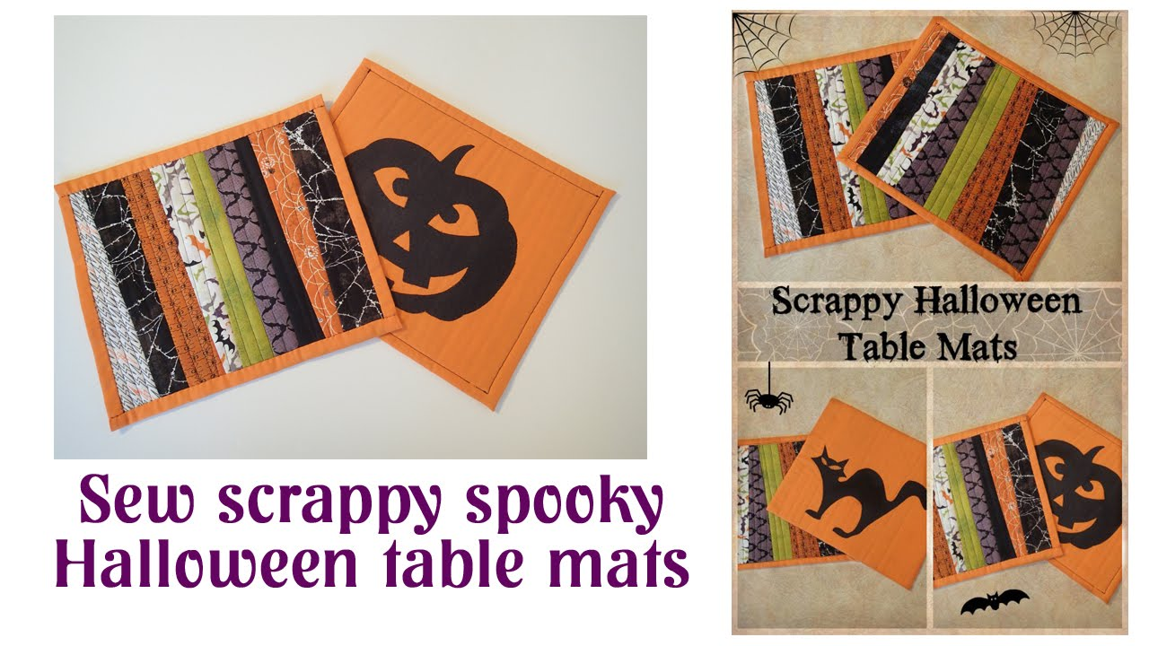 - Halloween Placemats Video - YouTube