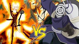 Naruto Kyuubi Chakra Mode Vs Rinnegan Tobi Gedo Statue - Naruto Shippuden Ultimate Ninja Storm 3