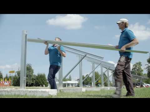 photovoltaic ground mount system: the fastest mounting system in the world