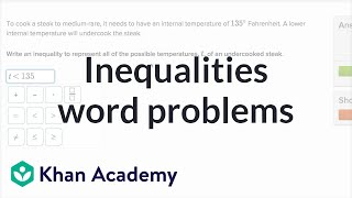 How To Describe Real-world Situations With Inequalities | 6th Grade | Khan Academy