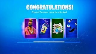 *ALL* 14 DAYS OF SUMMER EVENT REWARDS! (15 FREE REWARDS in Fortnite)