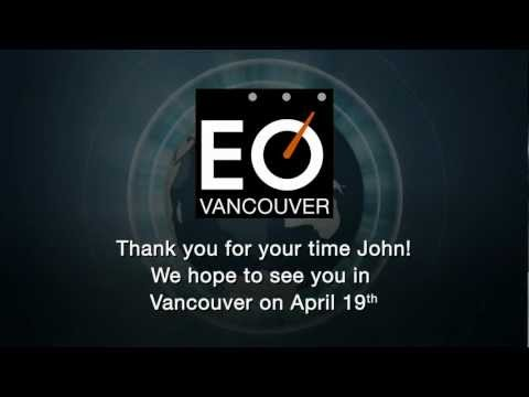 EO Vancouver Creative Invite To Author John Maxwell