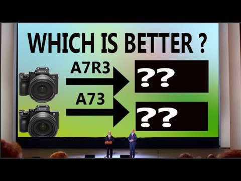 a73 vs a7r3 spec comparison I SONY Alpha A7 III vs SONY Alpha A7R III