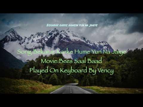 Bekarar Karke Hume Yun Na Jaiye Instrumental With Lyrics |Free Download|