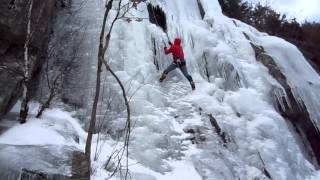 James Cullem - Ice Climbing At Newfound Lake In N.h. (winter 2012)
