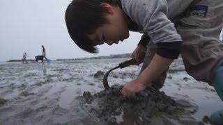 家族の思い出に。 南知多で潮干狩をしました。他にも海岸で貝殻を拾った...