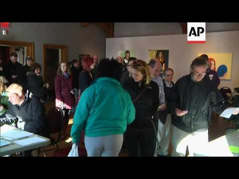Voters Line Up for Wisconsin Primary Election
