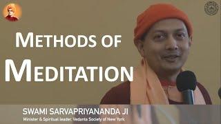 Practical Methods of Meditation | Swami Sarvapriyananda