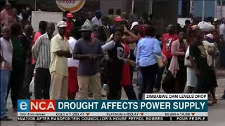 Drought affects power supply in Zimbabwe