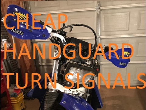 Cheap Dirt Bike Handguard Turn Signals Youtube