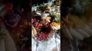 Красивое оформление блюд. Банкетный стол