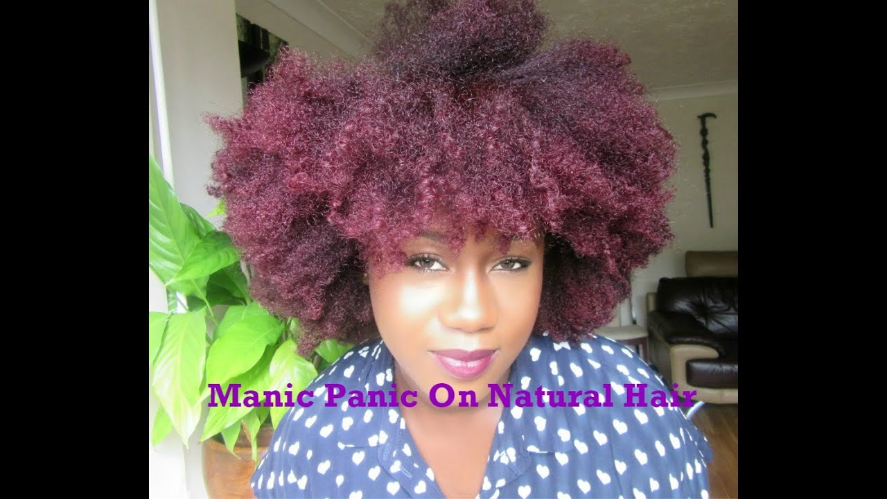 Manic Panic On Dark Natural Hair