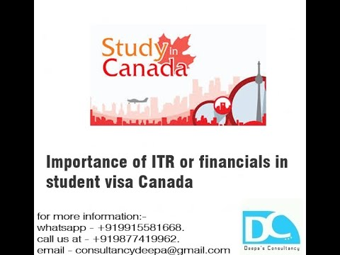 Importance of ITR or financials in student visa Canada