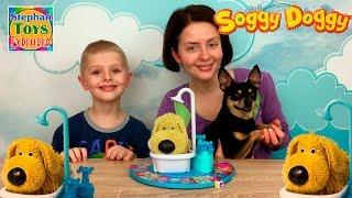 НАСТОЛЬНАЯ ИГРА: (Мокрая Собака)! Купаем нашего питомца. // Soggy Doggy Game Unboxing