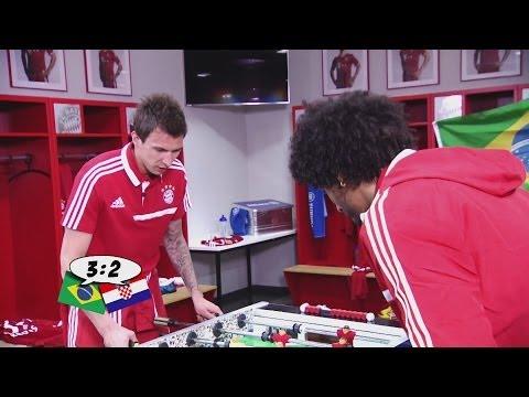 Mandzukic vs. Dante - Das witzigste und kurioseste Kicker-Duell (WM 2014 - Brasilien vs. Kroatien)