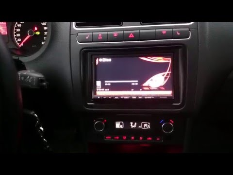 Alpine INA-W910R в VW POLO седан с CAN-адаптером (часть 3)