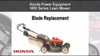 HRX217 Lawn Mower Blade Replacement