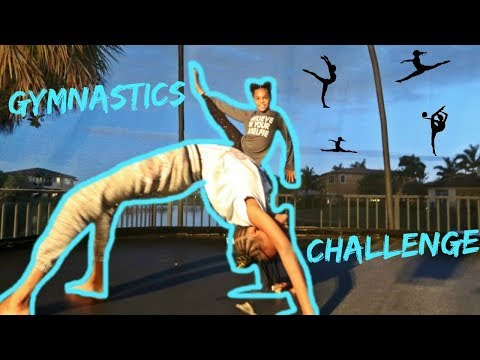 Gymnastics Challenge Ft. Ilani From Pierre Sisters