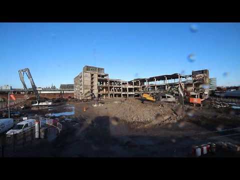 Former Royal Mail Sorting Office Demolition Time-lapse