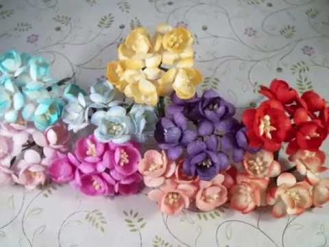 Mulberry Paper Flowers At My Store
