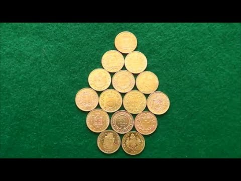 15 Different 5.806g Gold Coins