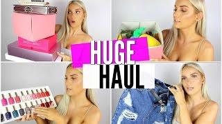 HUGE COLLECTIVE HAUL! (MAKEUP, CLOTHES, PR PACKAGES) | Natalie Boucher