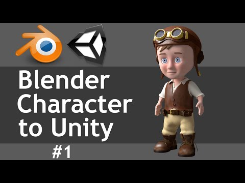 Blender Character To Unity part 1 of 2