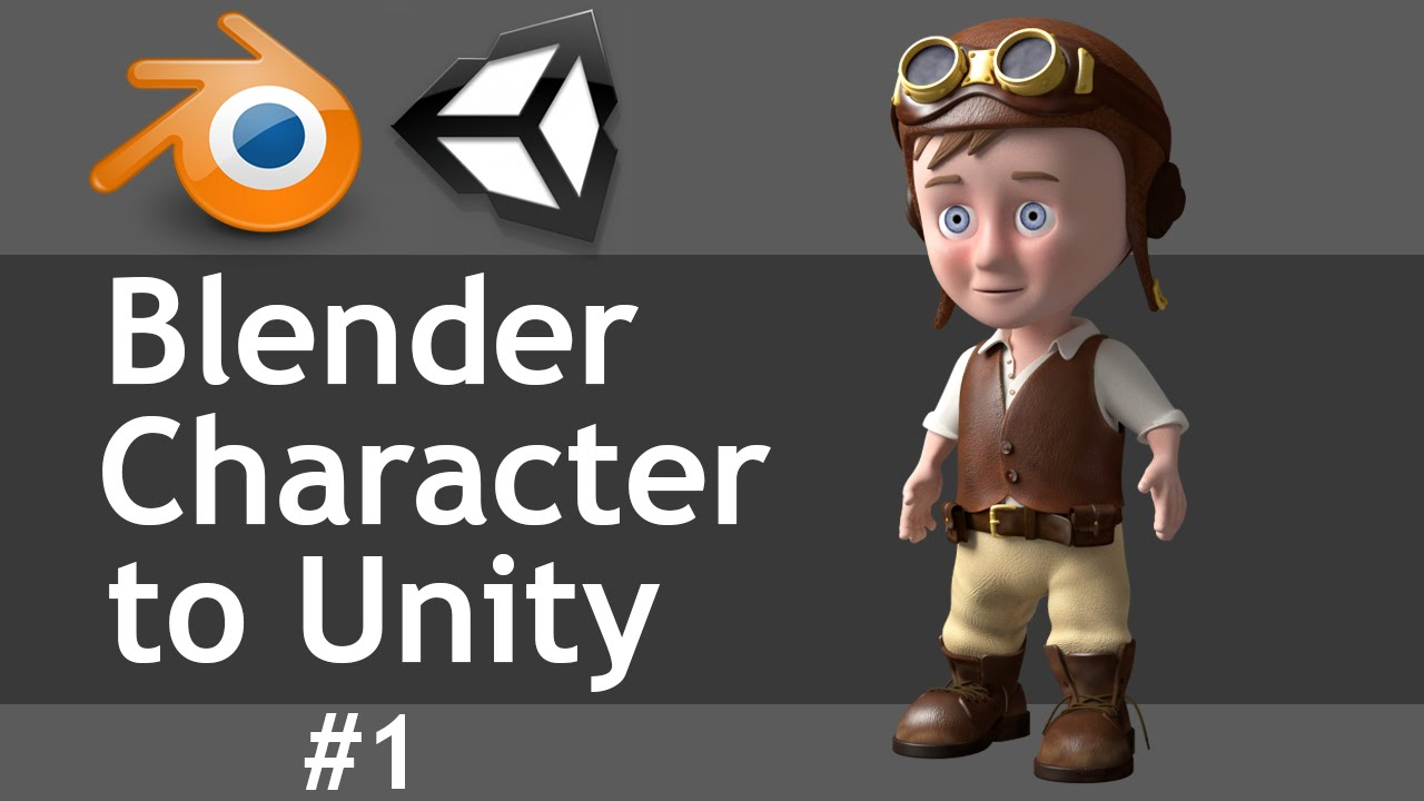 Blender Character Modeling 8 Of 10 : Blender character to unity part of youtube