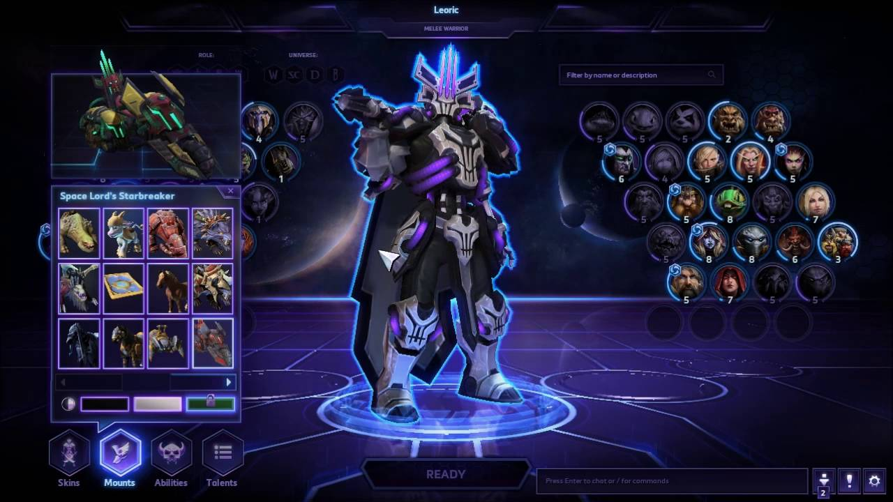 Heroes of the storm space lord leoric skin and mount - Heroes of the storm space lord leoric ...