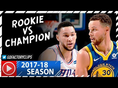 Stephen Curry vs Ben Simmons EPIC Duel Highlights (2017.11.18) Warriors vs Sixers - Rookie vs Champ!