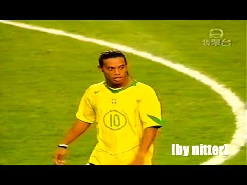 Ronaldinho vs Hong Kong 2004-2005 [by nitter]
