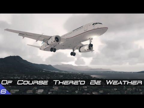 Stormy Visual Approach | LGKR - LDSP