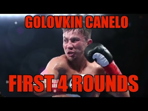 "GGG VS CANELO FIRST 4 ROUNDS "" KO or KD"" !!!! AND RESUME...."