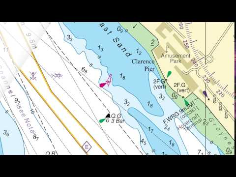 Inserting a buoy and description onto an ADMIRALTY Standard Nautical Chart