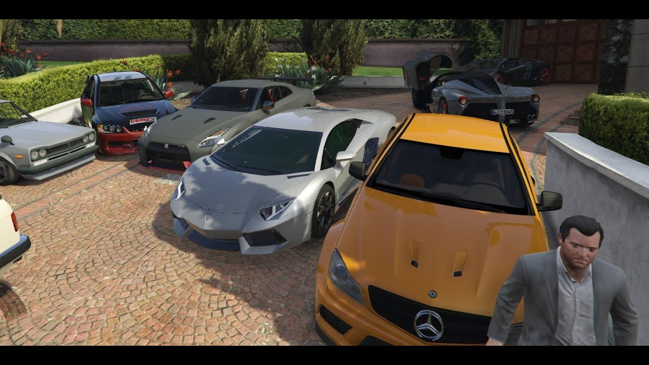 gta 5 real car mods my car collection youtube. Black Bedroom Furniture Sets. Home Design Ideas