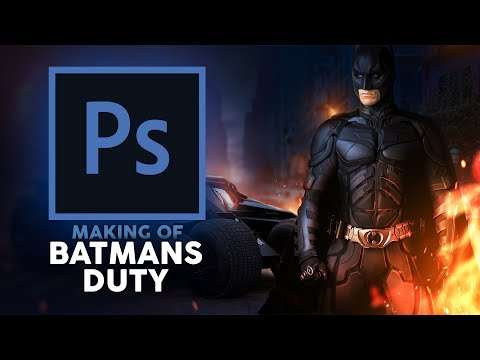 BATMANS DUTY | Making Of Photoshop Art | Fabi Productions