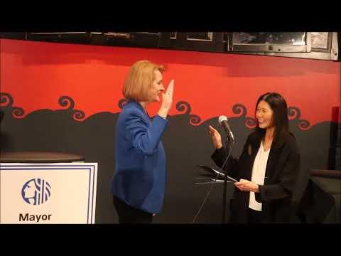 西雅图市长珍妮.德肯就职典礼Seattle Mayor Jenny Durkan Inauguration Ceremony in Chinatown
