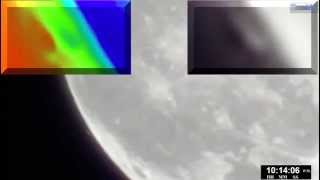 UFO's passing by the moon - Amateur video of many anomalies Are some the 26 mile mothership