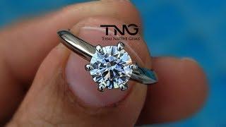 1 carat G-VVS1 GIA Certified Classic Six Prong Solitaire Diamond Ring set in PT950 Platinum