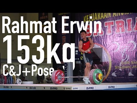 Rahmat Erwin 69kg17yo 153kg C&J - Satria Remaja 1