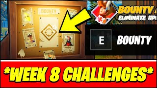 Complete Bounties from Bounty Boards (Locations) - Fortnite Week 8 Epic Quest