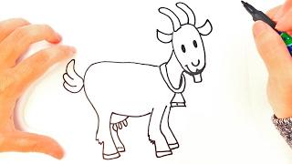 Cómo dibujar una Cabra paso a paso   Dibujo fácil de Cabra