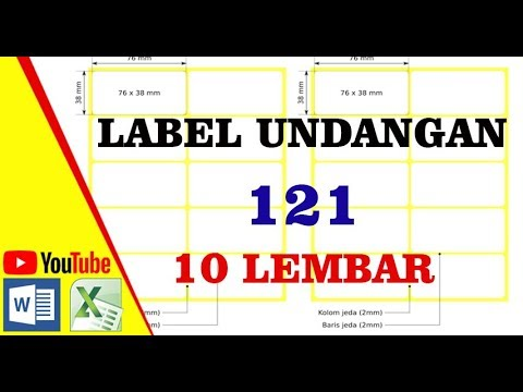 Cara Membuat Label Undangan 121