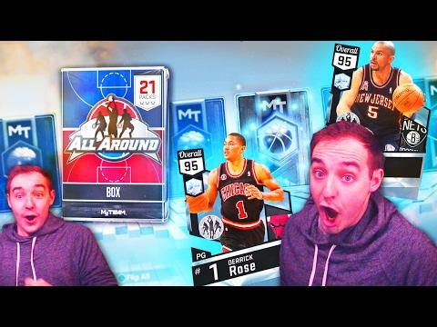 NBA 2K17 My Team MULTIPLE DIAMOND PULLS! NEW ALL AROUND PACKS!