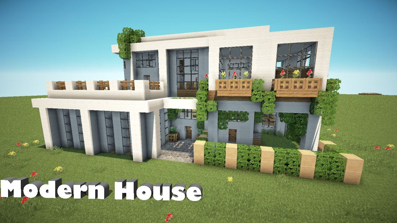 How To Build A Modern House Minecraft Pe Pocket Edition