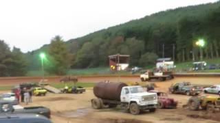Dump truck race Mountain View speedway boone nc