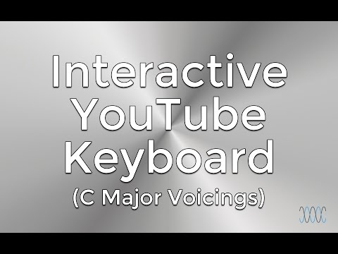 Popular Voicings of C Major (Interactive YouTube Keyboard) - WARRENMUSIC Series - Harmony Module