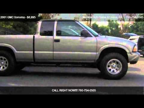 2001 gmc sonoma ext cab 123 wb sls truck for sale in oceanside ca 92054 youtube. Black Bedroom Furniture Sets. Home Design Ideas